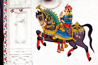 Such beautiful wall arts delight to watch in the old city area of Udaipur.