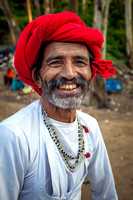 Portrait of a trolly driver for  the sunset point at Mount Abu.